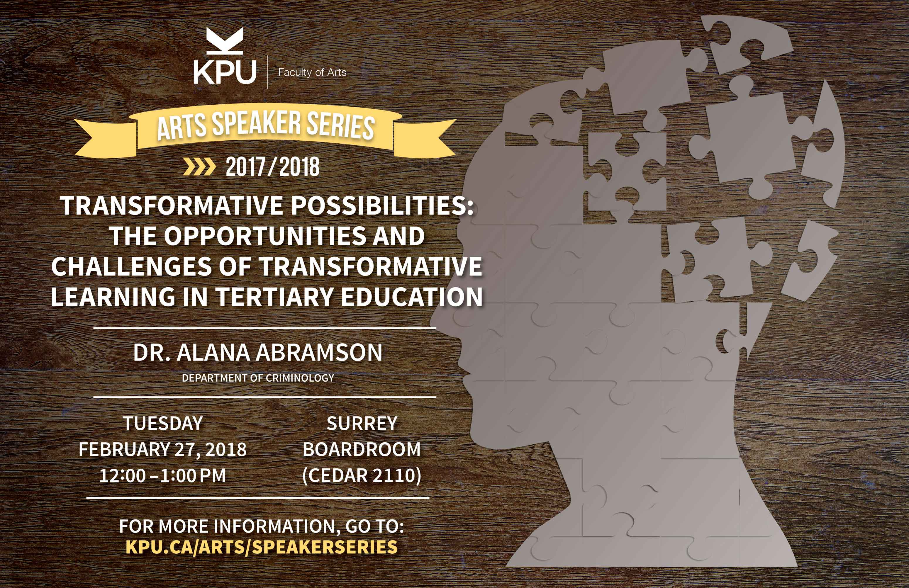 Transformative Possibilities: The Opportunities and Challenges of Transformative Learning in Tertiary Education